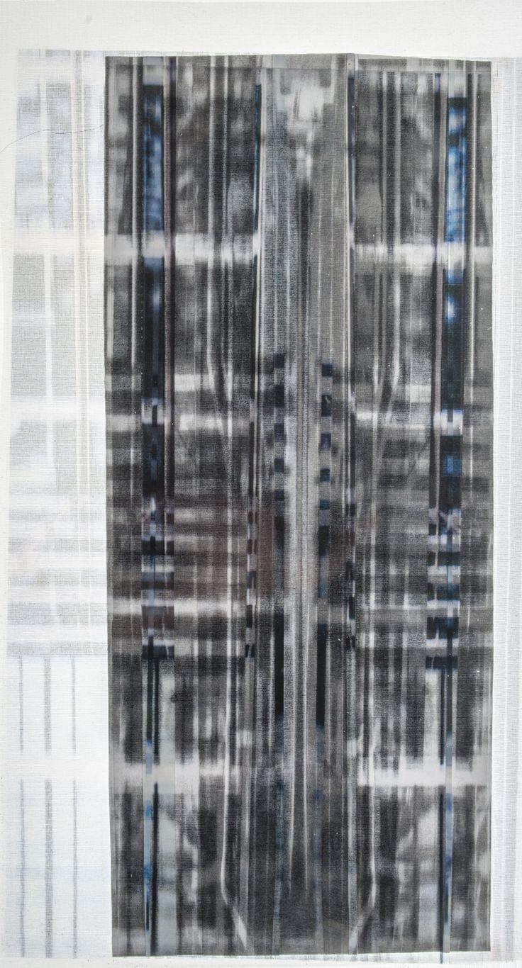 Ikat photographique Impression sur rodoïd et papier Mathilde Coin, 2014