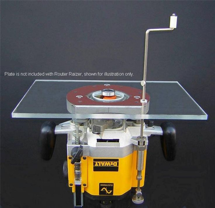 Use this to make your Router Table with Plunge Router adjust from the top of the table which saves time and hassle. Adjustments work equally well when used hand held. The same adjuster points can also be used when the router is used handheld for quick and easy depth of cut adjustments. | eBay!