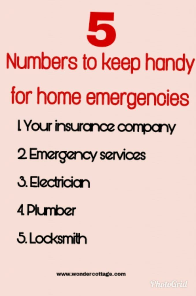 5 Numbers To Keep Handy For Home Emergencies Emergency Handy How To Find Out