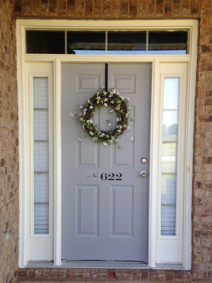 I'm so in love with the beautiful farmhouse style front door from Lindsey at Repurpose & Upcycle, esp. the house # on the front door!