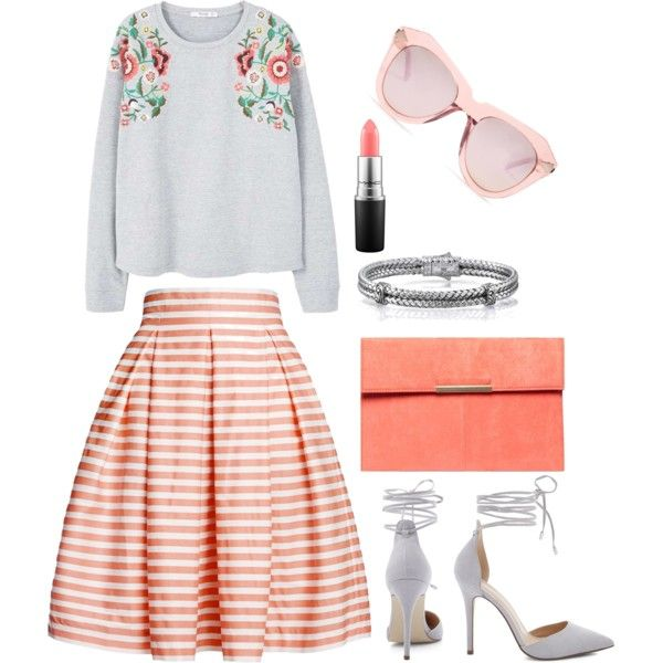 A fashion look from May 2017 by somolicek featuring MANGO, Rumour London, Dorothy Perkins, Karen Walker and MAC Cosmetics