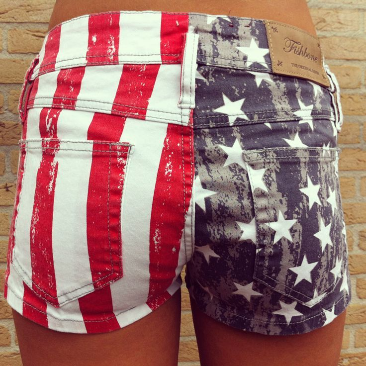 Wantwantwantwant Red,White & Blue shorts for the summer! 4th of July clothes. | Salon Thesis
