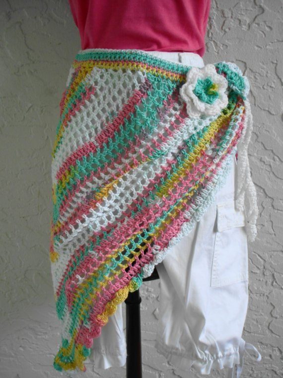 Shawl cover up  Beach Sarong Capelet Hipster Wrap by annmag,