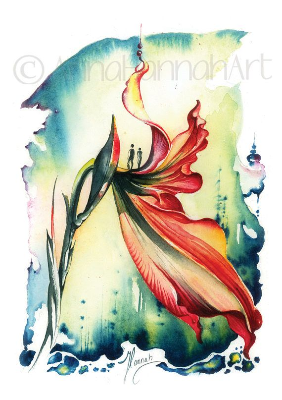 """""""Viewpoint"""" from the series """"Blossoming Planet""""A5 print"""