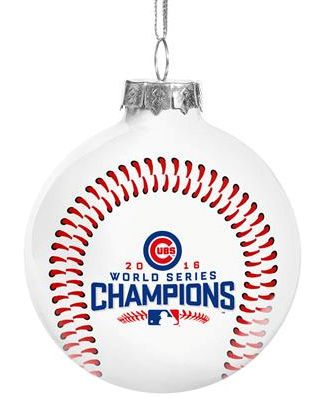 Chicago Cubs 2016 World Series Champions Glass Ball Ornament