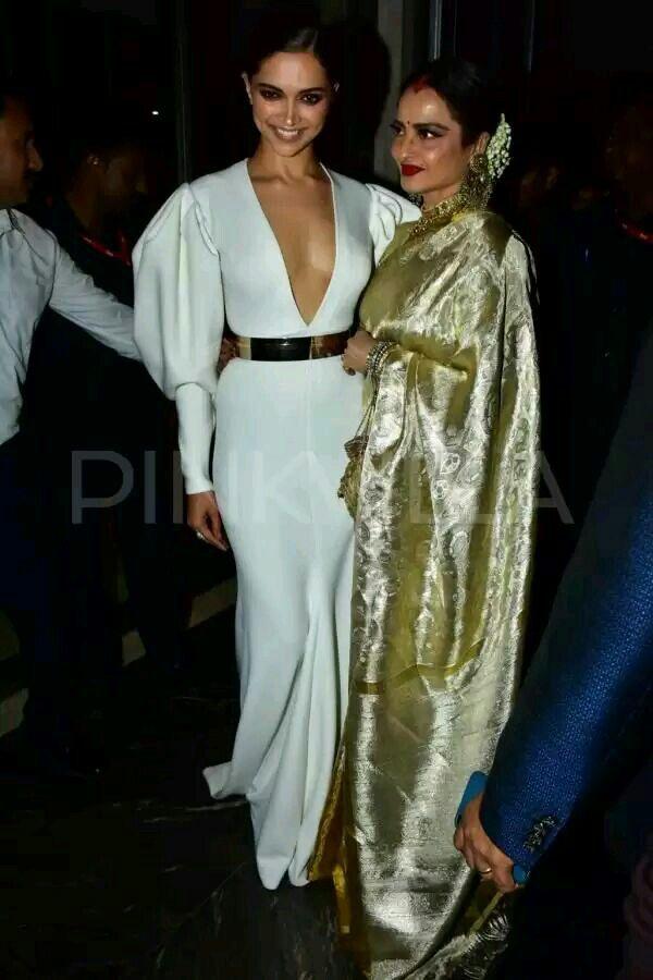 Legendary Rekha Ji With Deepika Padukone At Hhof Indian Celebrities Bollywood Actress Deepika Padukone