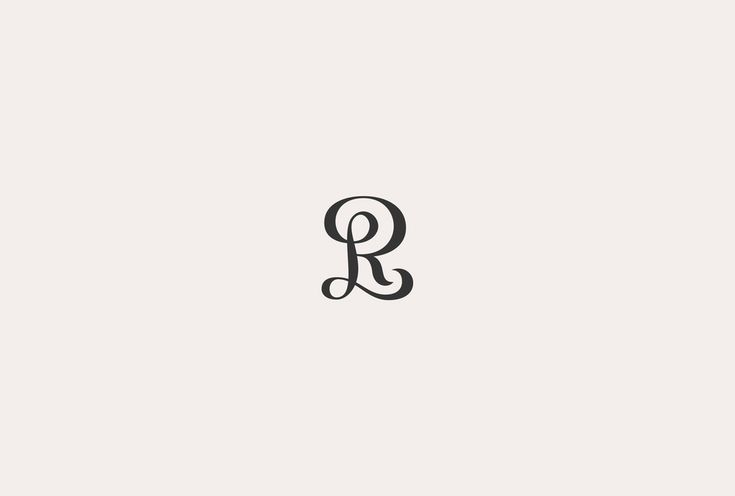 The monogram combines the initials: R, L, interlaced in a premium way.