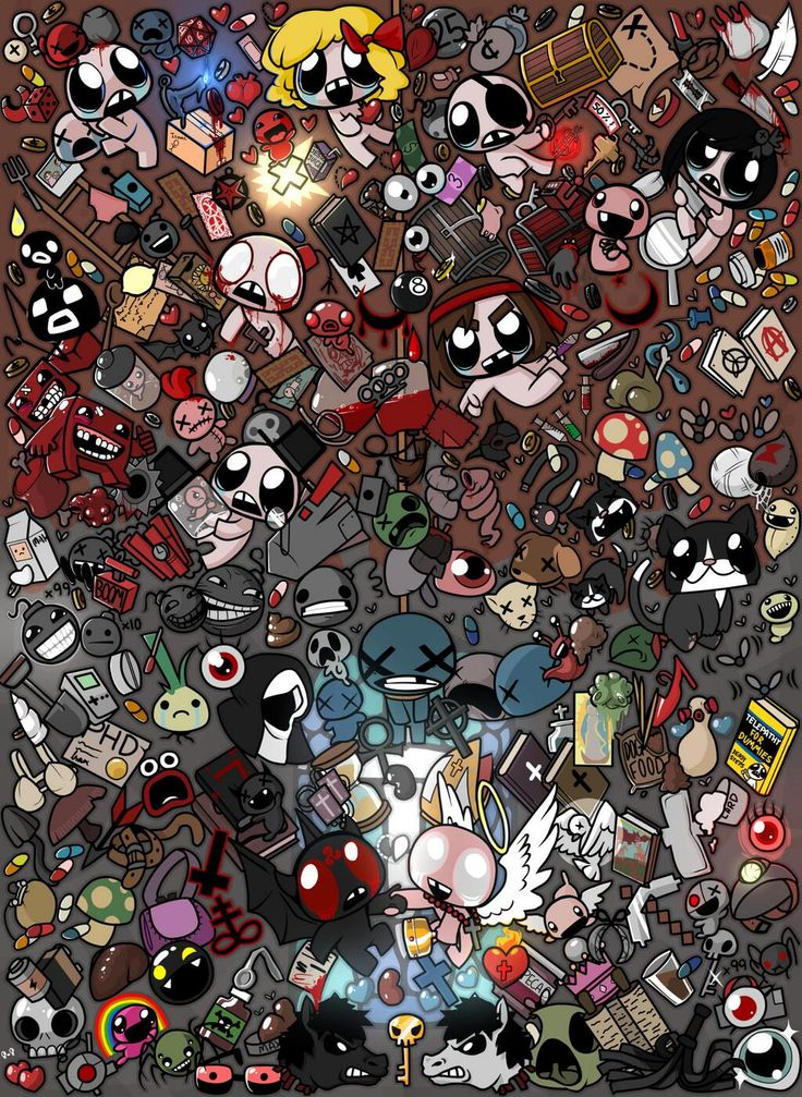 The Binding of Isaac. Such an awesome picture!