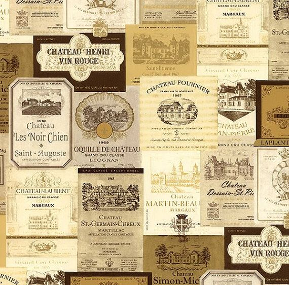 Wallpaper By The Yard  Wine Decor Chateau by WallpaperYourWorld