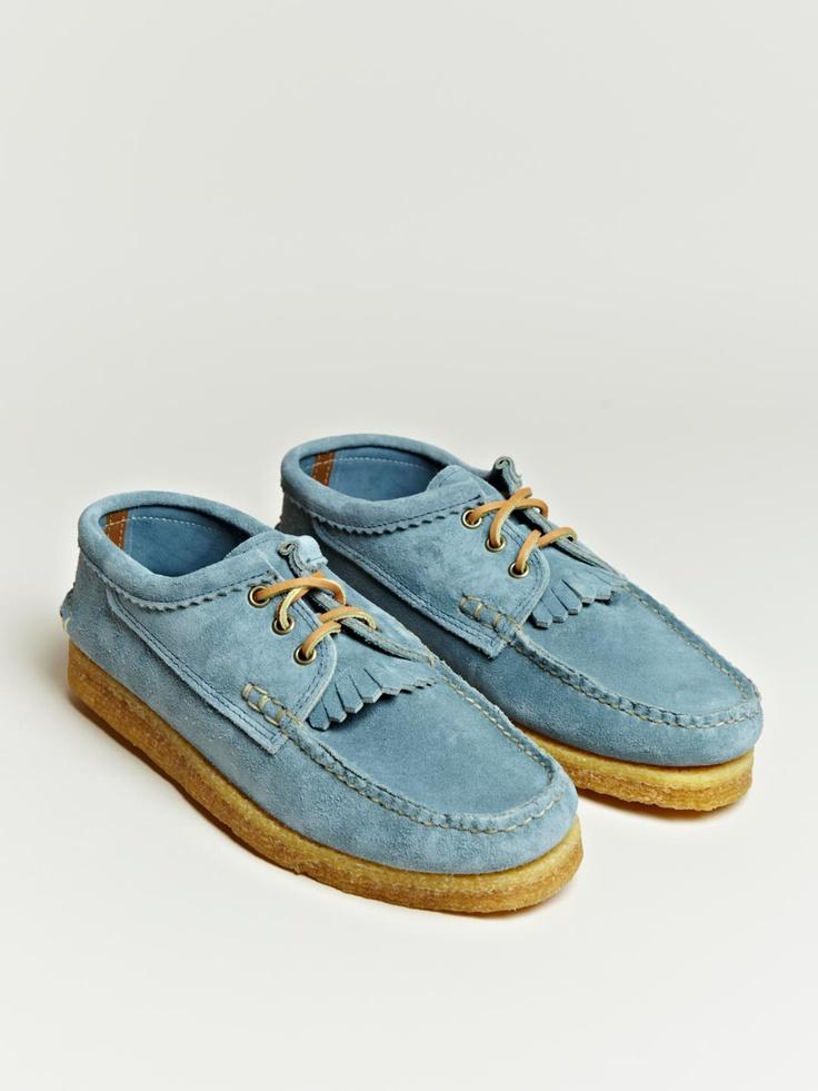 Yuketen Blucher Kiltie in powder blue suede.Shoes, Yuketen Www Eff Style Com, Yuketen Blucher, Unisex Watches, Colors