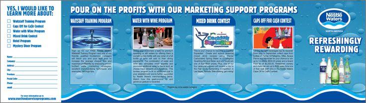 #NestleWaters Restaurant Program Direct Mail Piece