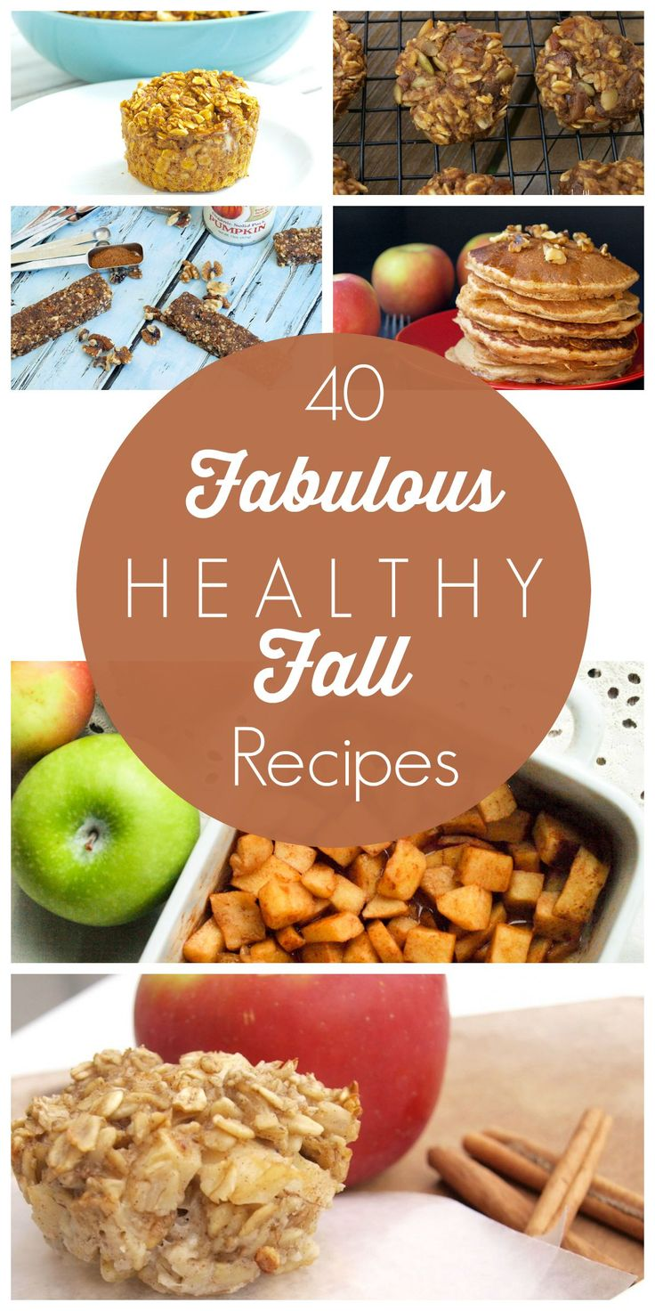 Looking for healthy fall recipes? Here's a great list! All of the fall recipes here are healthy with many allergy-friendly options.  Pumpkin, apples, squash!!