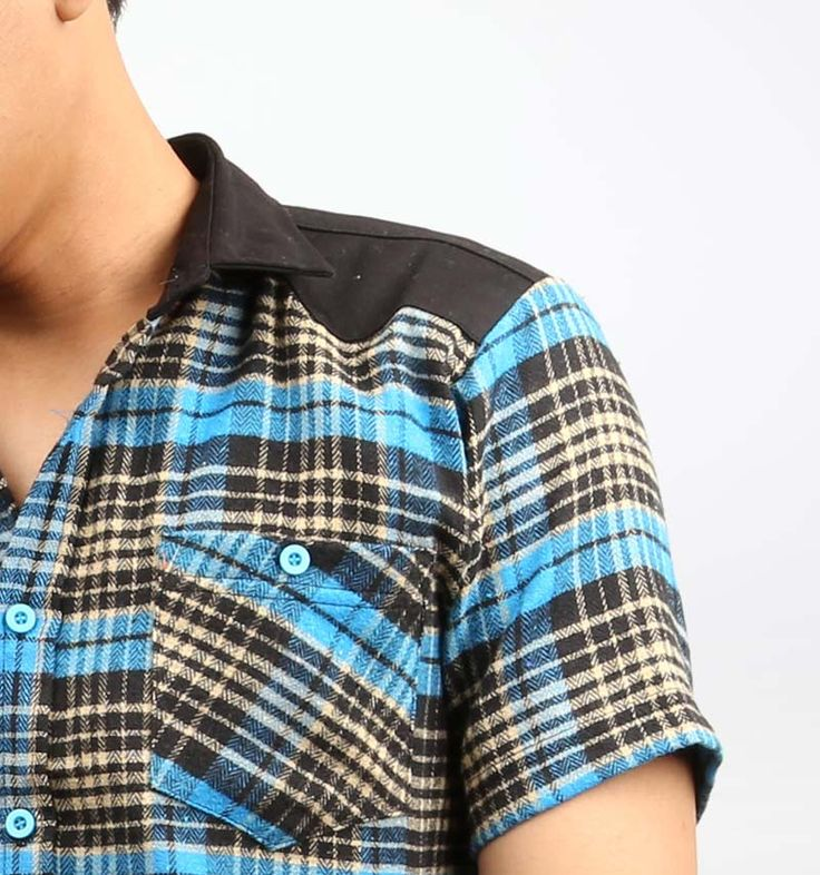 Blue Flanel Shirt from Rawks. Available in two sizes: small and large.  http://www.zocko.com/z/JKOlI