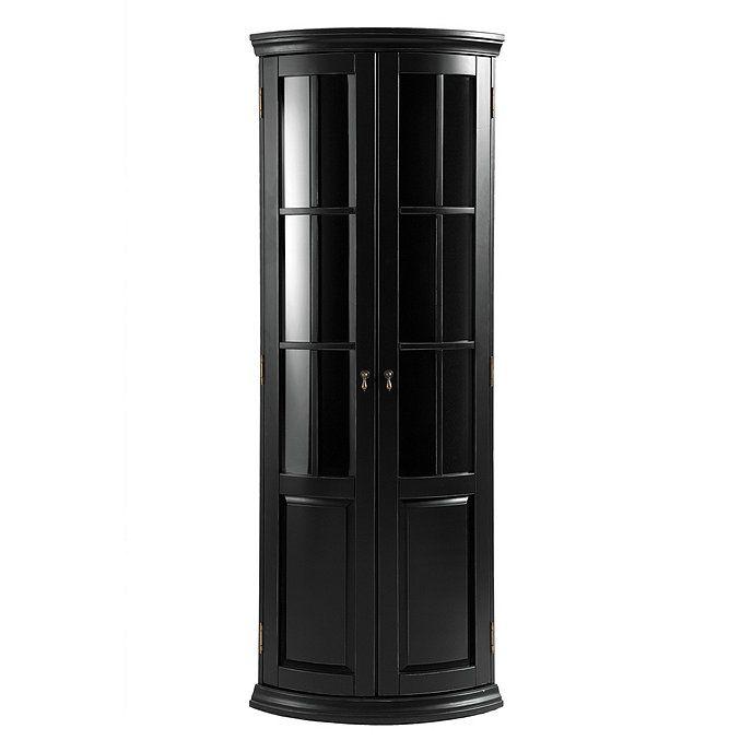 Chilton Glass Door Corner Cabinet Corner Cabinet Curved Cabinets Glass Door