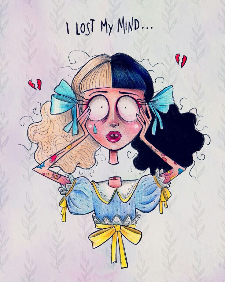 Melanie Martinez - Pacify Her with Tim Burton's style art ♡ #melaniemartinez #timburton #alefvernon