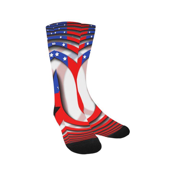 Flag of United States of America Knee-High Socks