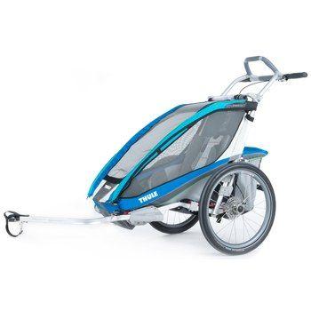 Thule Chariot CX 1 Fahrradanhänger für Kinder - Fahrradset - blau