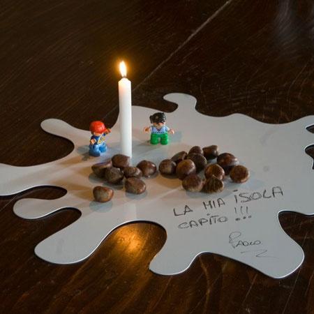 Acciaio al carbonio #splash #formairregolare #candela