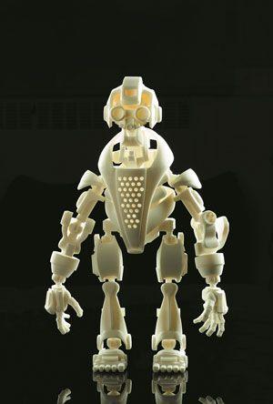 3D printed model of a robot