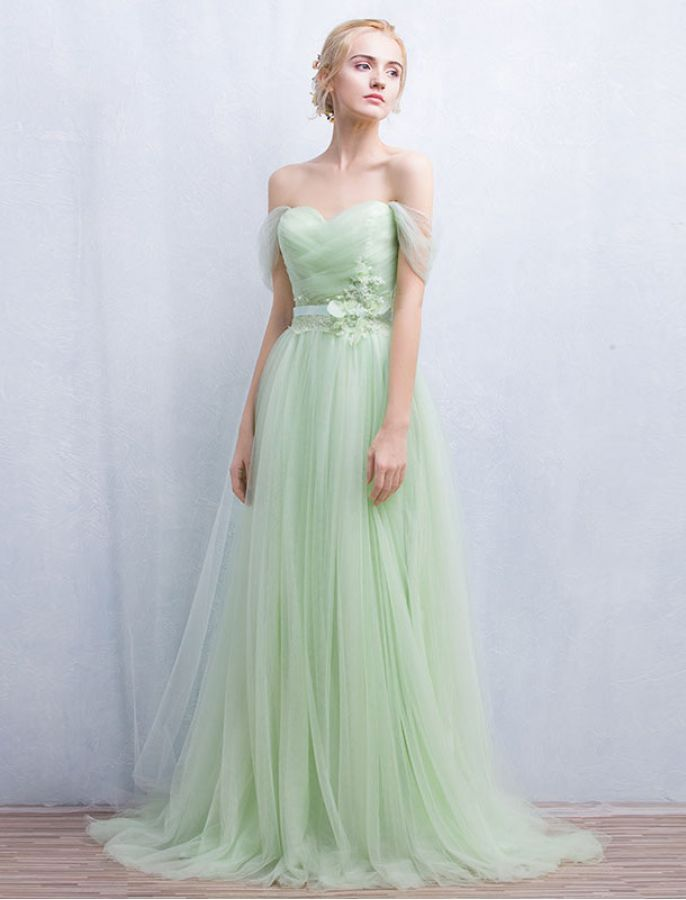 1950s Vintage Inspired Style Off Shoulder Elegant Prom Dress