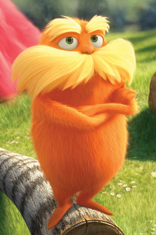 The Lorax, my love! Lana and the Lorax sittin in a Truffula Tree lol