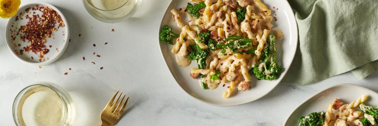 Image of Pork, Goat Cheese and Broccolini Pasta recipe
