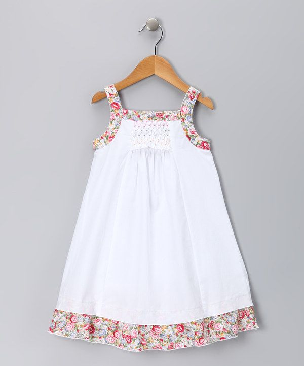Loving this White & Pink Floral Candy Dress - Infant, Toddler & Girls on #zulily! #zulilyfinds