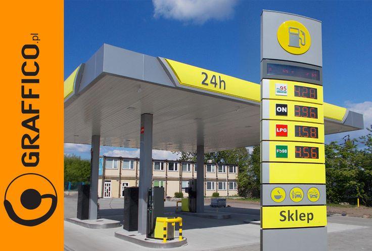 pylon cenowy, pylony cenowe, pylon reklamowy dla stacji paliw, pylony reklamowe dla stacji paliw, otoki reklamowe, otok reklamowy, wyświetlacze cenowe, wyświetlacze led, reklama dla stacji paliw, reklamy dla stacji paliw, oznakowanie stacji paliw, branding stacji paliw, Graffico,petrol stations, gas stations, oil stations, pylon signs, pylon signage, illuminated signage, freestanding signs, branding rebranding of oil stations, signage manufacturer, producent reklam Toruń