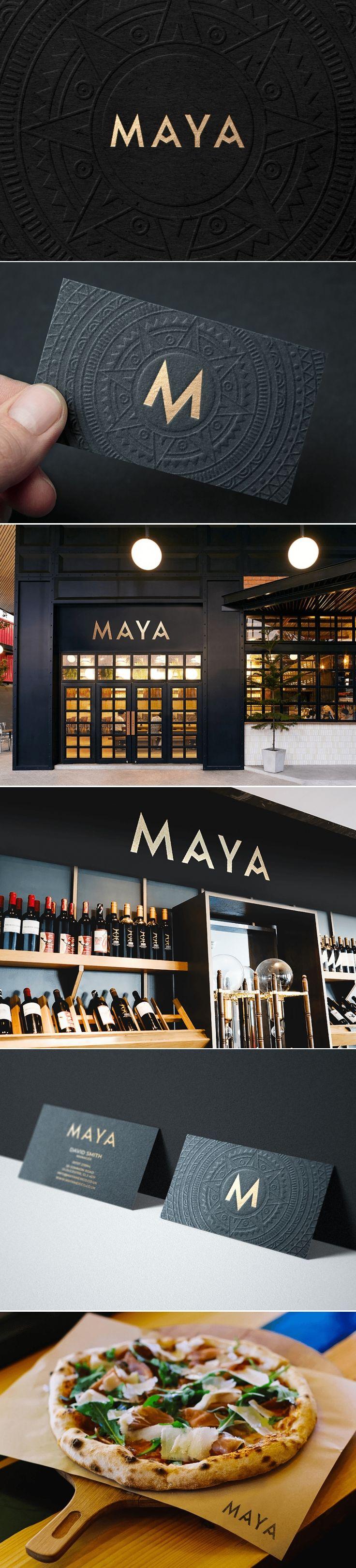 Maya mexican restaurant brand design by MK Creativ…