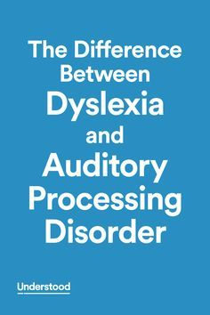Some of the signs of dyslexia and auditory processing disorder look similar. Each condition can make it hard for kids to develop skills like reading, writing and rhyming. Kids can have APD and dyslexia at the same time. This table explains the differences and similarities between them.