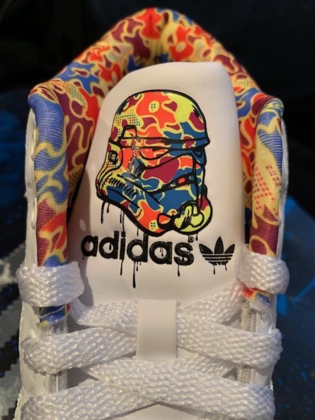 Adidas #StarWars Stormtrooper super skate Superstar Shoes US