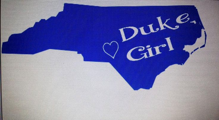 North Carolina Duke Blue Devil Girl Monogrammed car, wall, laptop or anything decal sticker- Can do any school in North Carolina by CuteJust4u on Etsy