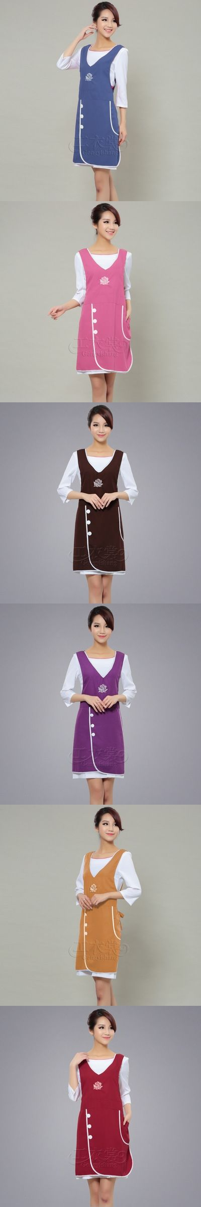 071958 Korean fashion nail shop supermarket restaurant aprons beautician overalls kitchen accessories