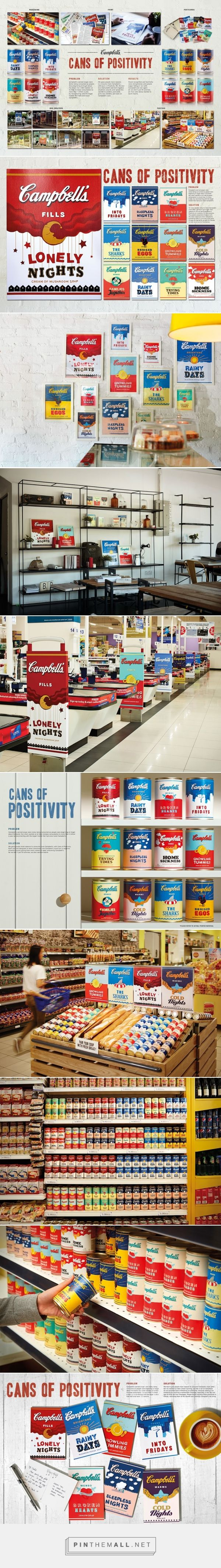 Campbells Cans of Positivity Packaging Design by Y&R Malaysia - http://www.packagingoftheworld.com/2016/05/cans-of-positivity.html