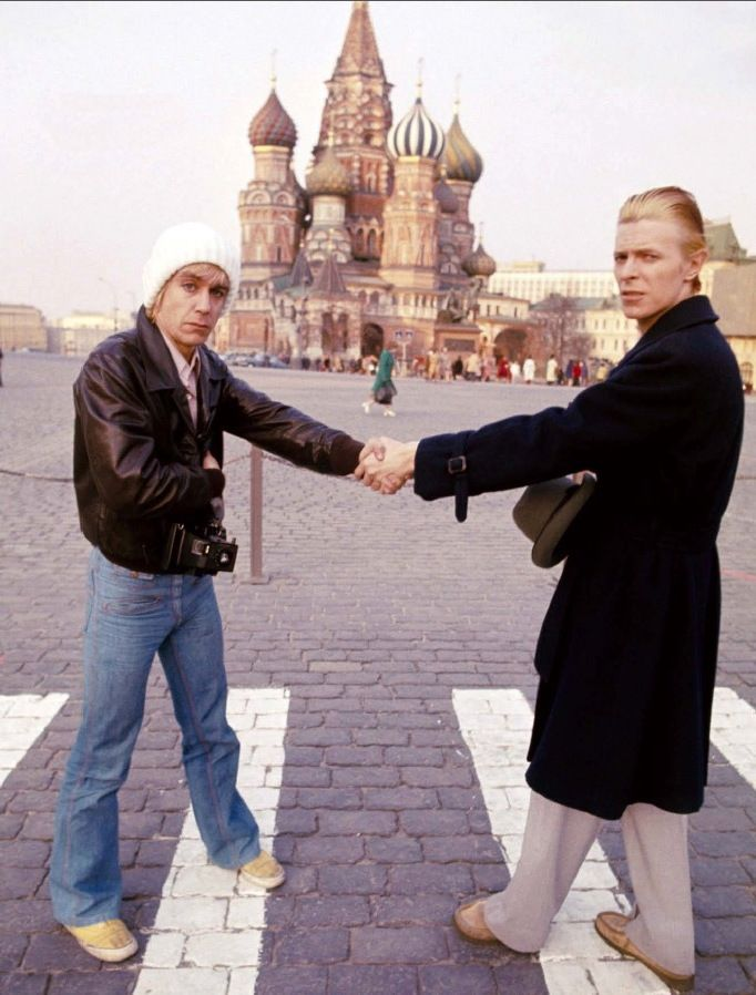 David Bowie and Iggy Pop, Moscow, April 1976