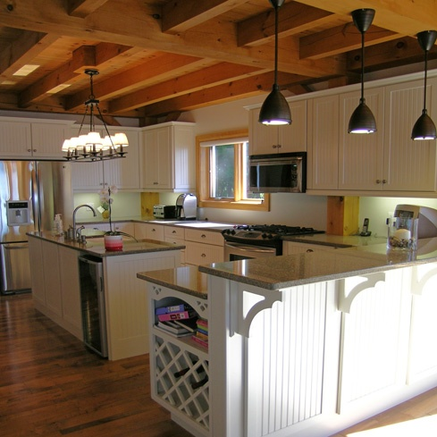 Normerica timber frame post beam construction what it for Post and beam kitchen ideas