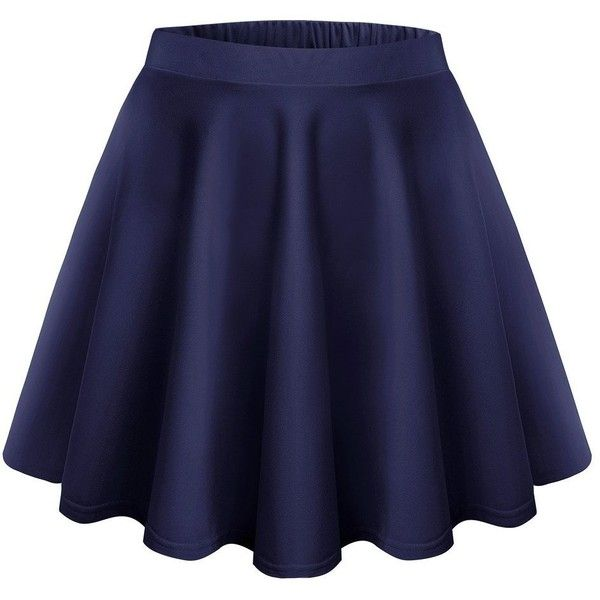Womens Skater Skirt at Amazon Women's Clothing store: (5.79 CAD) ❤ liked on Polyvore featuring skirts, blue circle skirt, blue skirt, circle skirts, flared skirt and skater skirt