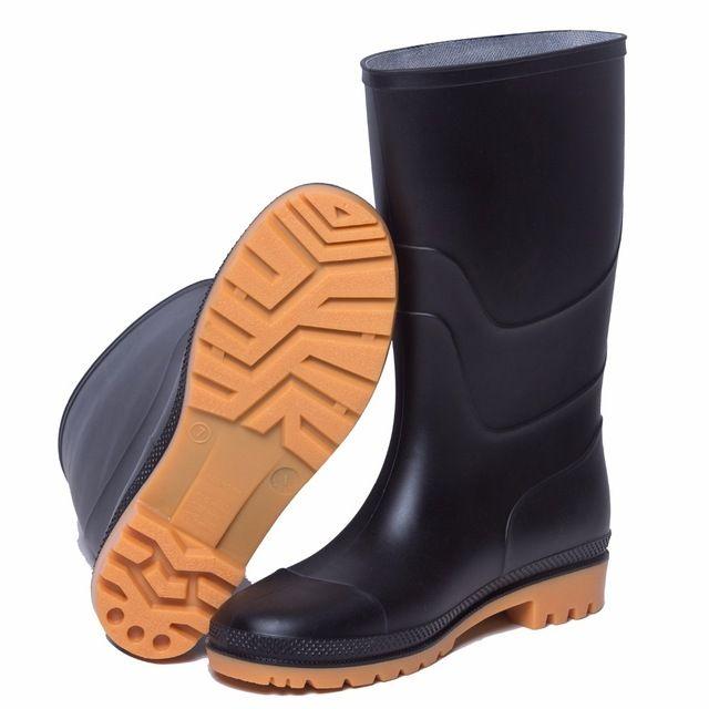 GYOYO Men's shoes Rain Wear Over The Sock Casual Black PVC Men's Winter Fishing Boots High Water Shoes Eu Size27.5 to 28cm Price: US $80.31 & FREE Shipping