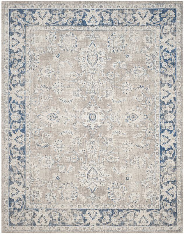 Pin On ث Taupe and blue area rug