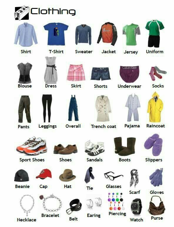названия женской одежды с картинками этим параметром определились