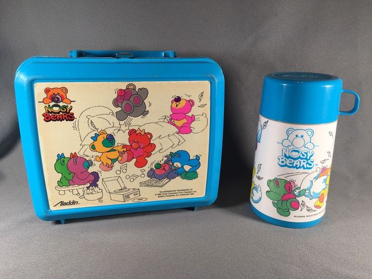 Vintage Nosy Bears Plastic Lunch Box By Aladdin 1988 #Aladdin