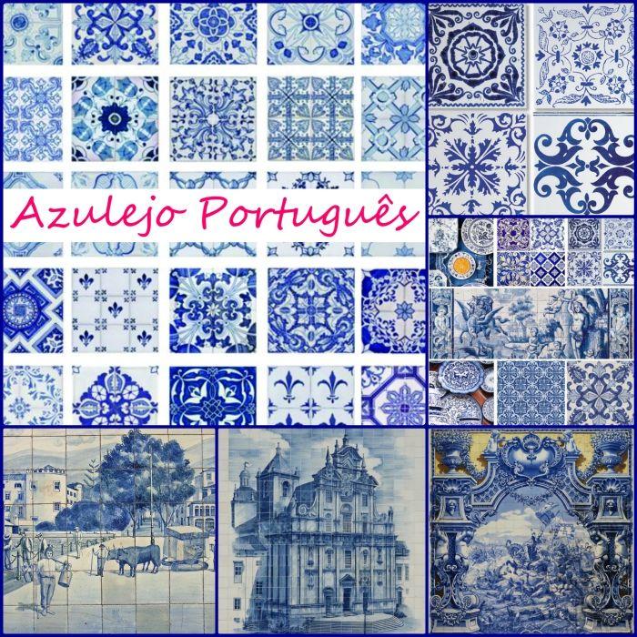 Portugiesische Fliesen Azulejo in der modernen Inneneinrichtung