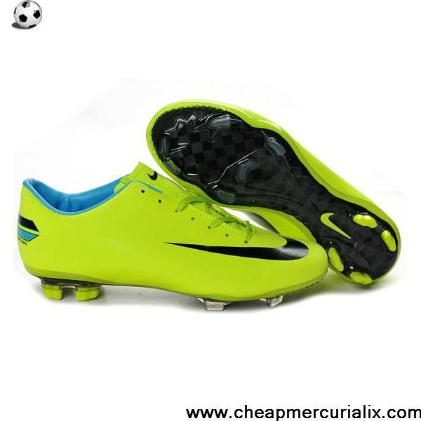 New Nike Mercurial Vapor Superfly Iv FG Green Black Blue Soccer Boots For Sale