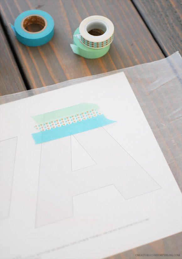 DIY Making Tape Stickers - Monogram / Alphabet Edition | Creature ComfortsCreature Comforts