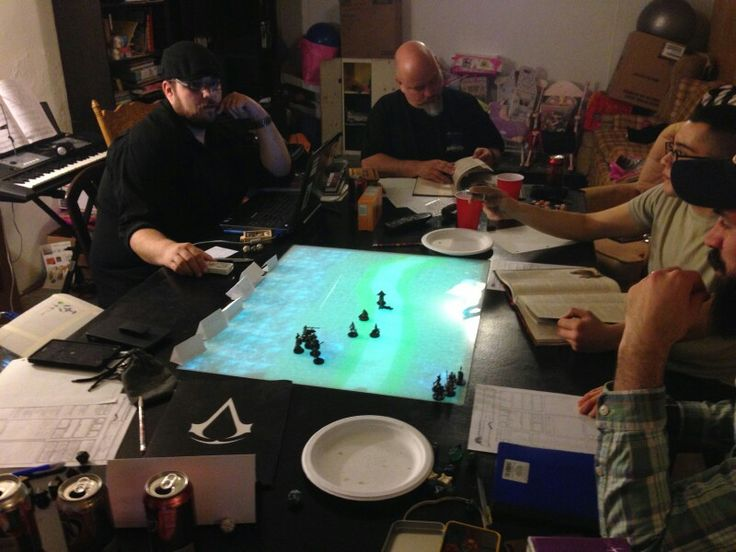 Back Lit Dnd Table We Used A Projector Two Pieces Of