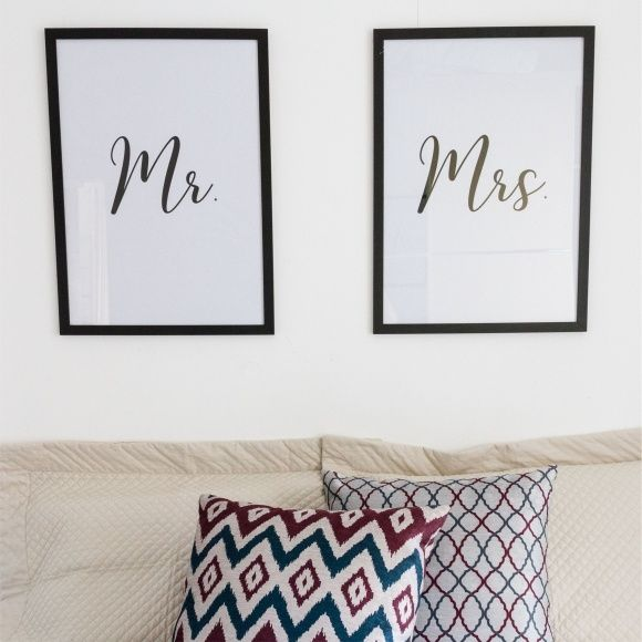 Conjunto de Quadros Mr. & Mrs.