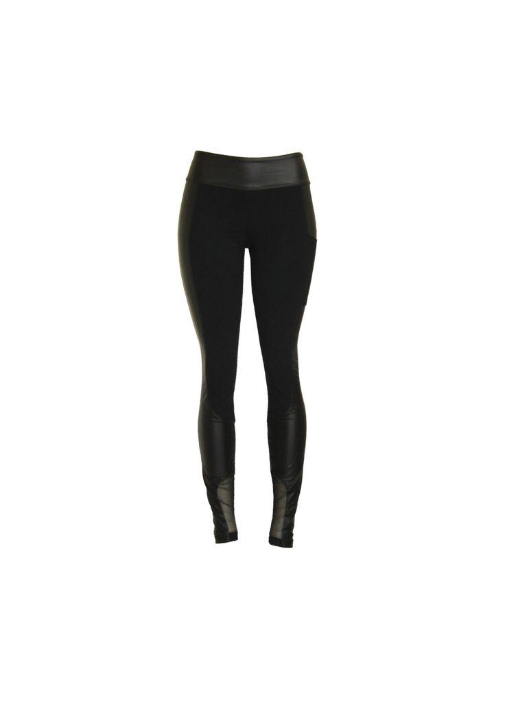 """Leggings """"Mix3"""", pantalon moulant avec faux cuir, skinny avec filet, legging moto avec poche. de la boutique atelierPATH sur Etsy"""