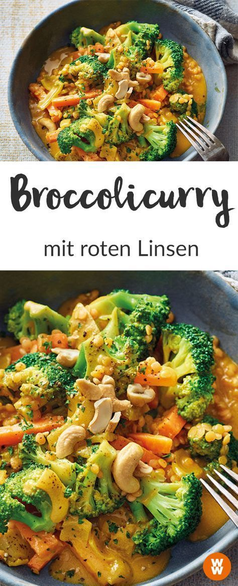 WW Rezept I Broccolicurry I Linsen I Vegetarisch I Weight Watchers Deutschland
