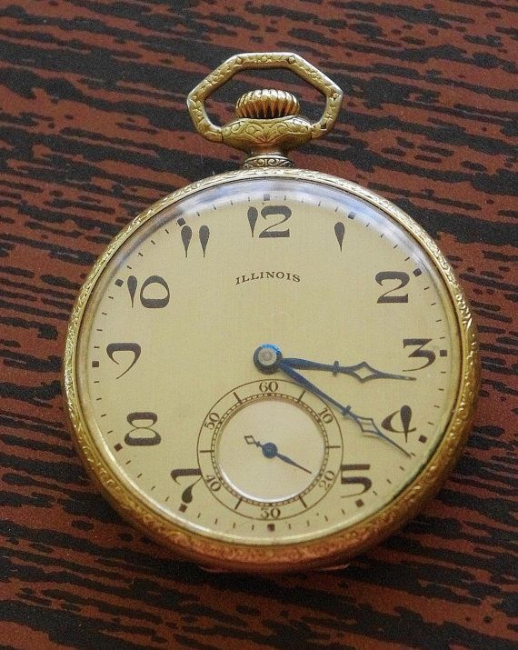 I used to wear a pocket watch.  I paid 14 dollars for it.  Not surprisingly, it was nothing like this one with its art nouveau numbers and blued hands.  If I owned it, I would be tempted to place it in a glass box on a pedestal in an otherwise empty room.