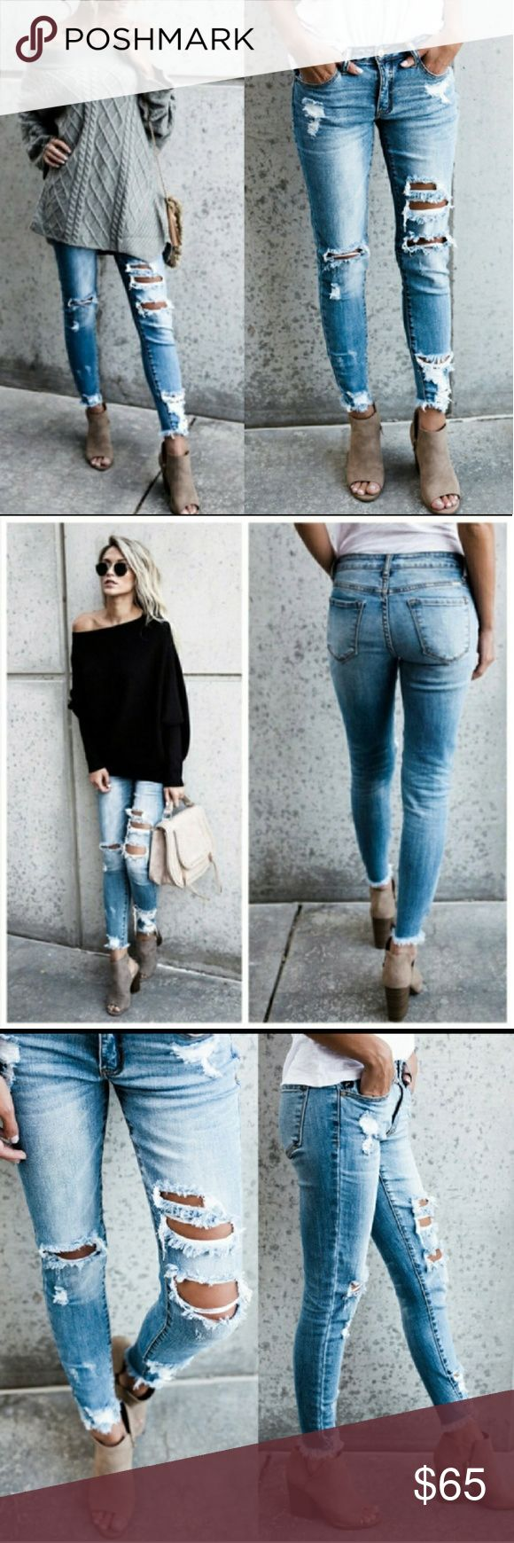 COMMING SOON!! KANCAN JEANS!!  Dont miss out on these awesome trendy skinny jeans!! They are light wash, stretchy, factory ripped and distressed These jeans are in demand and super cool looking!!!    98% cotton...2% spandex No trades Price is firm unless bundled!! Jeans Skinny